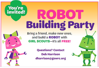 Girl Scout Robot Building Party