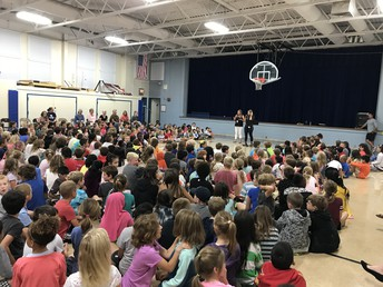 Our First Whole-School Morning Meeting, yeah - we're big!