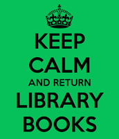 All Library Books Are Due Back The Week of May 15-19