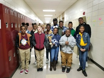 Congratulations to Ms. Hagins and Ms. Braswell's homerooms!