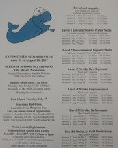 Summer Community Swim Hours