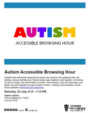 Autism Accessible Browsing Hour at Guerra Library