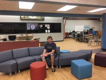 Mr. Babb Tries the Soft Seating