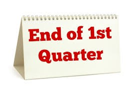 First Quarter will wrap up on Friday, Oct 30