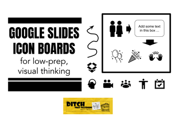 Check out this article on uses for Google Slides Icon Boards for low prep, visual thinking