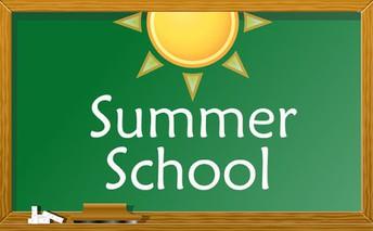 Chalkboard with words Summer School