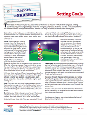 Report to Parents - Setting Goals