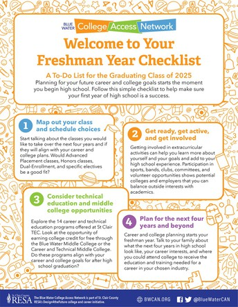 Welcome to Your Freshman Year Checklist: A To-Do List for the Graduating Class of 2025