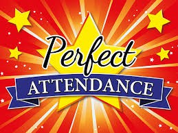 Students can earn CARDINAL CARDS for Perfect Attendance!