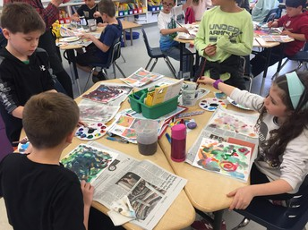 LPIE Art Abstract Expressionism in 3rd Grade!