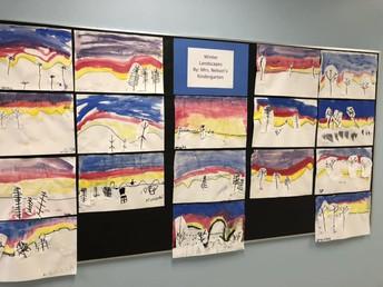 Mrs. Nelson's Kindergarten Class Art