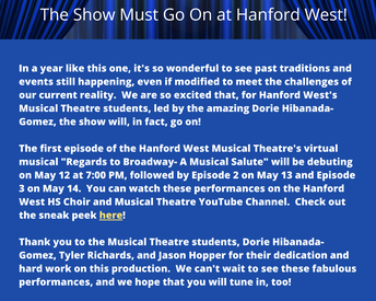 The Show Goes on at Hanford West