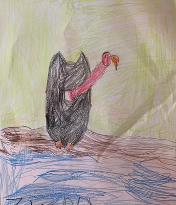 """Zyana's Vulture for the Letter """"V"""" for Kindergarten"""