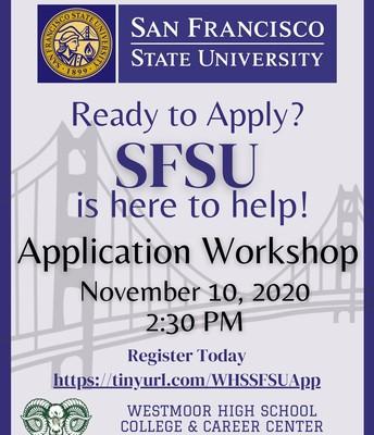 SFSU Application Workshop