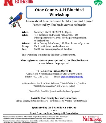 4-H Bluebird Workshop