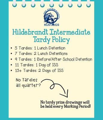 2018-2019 Tardy Policy