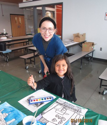 Artist mentors Sunset Hills students