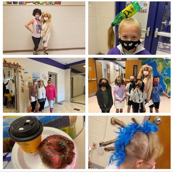 We saw some CRAZY hair in the halls at S.I.S.!