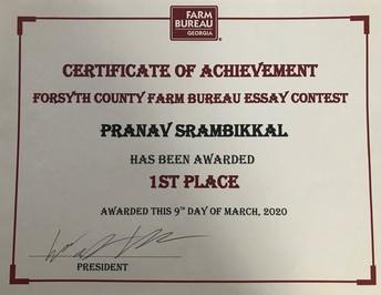 Essay Contest - 1st Place