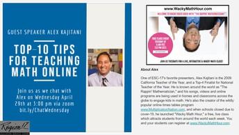 Top-10 Ways to Teach Math Online with Alex Kajitani