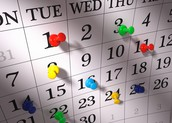 ¡Marque sus calendarios!