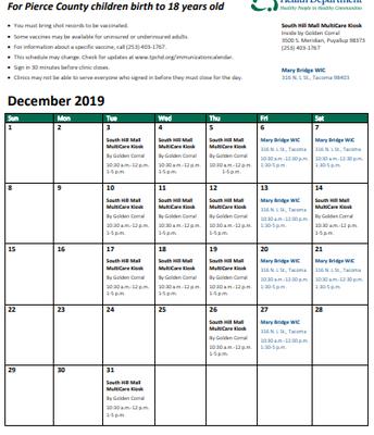 December Mobile Immunization Clinic