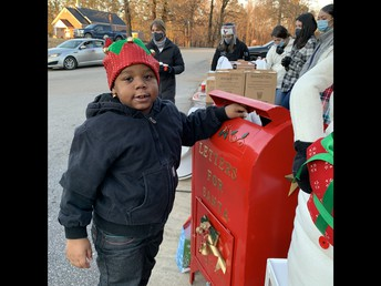 Devon Dropping Off His Letter to Santa