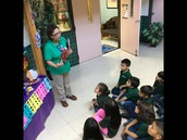 Library lessons this week featured learning about the altar.