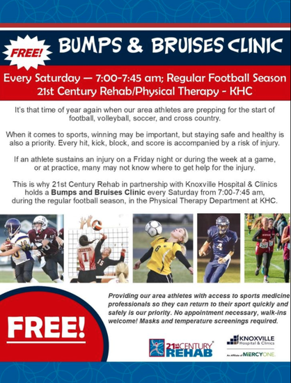 Bumps and Bruises Clinic
