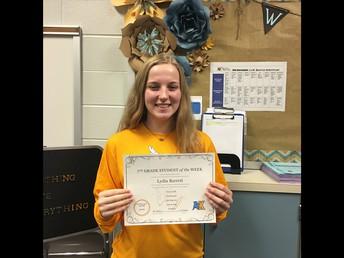 Lydia Barrett--7th Grade