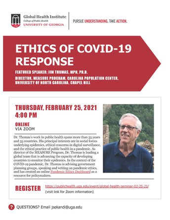 Global Health Seminar: Ethics of COVID-19 Response