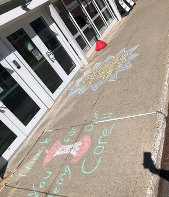 Chalk drawings for our teachers!