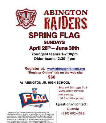 Abington Raiders Spring Flag