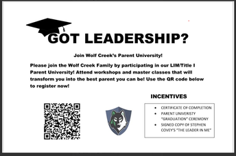 WCES Parent University - Have you registered?