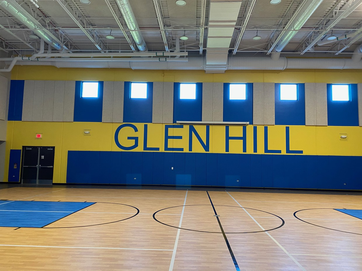 View from entrance into gym