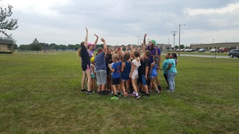 Cross Country Huddle after practice!
