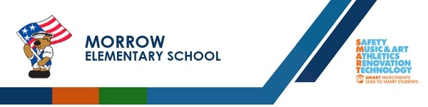 A graphic banner that shows Morrow Elementary school's name and logo with the SMART logo