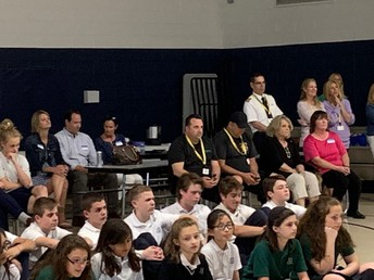 Parents and students enjoying the Talent Show