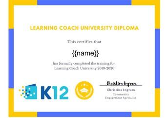 Learning Coach Training