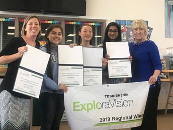 MVHS students winning an Explora Vision award
