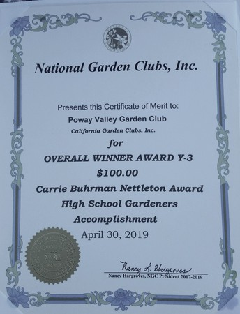 State and National Garden Awards