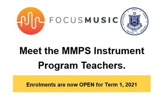 FOCUS MUSIC - ENROLMENTS NOW OPEN FOR TERM 1, 2021