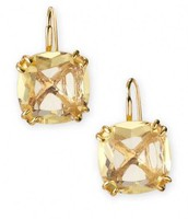 Cushion Drop Earrings - Citron