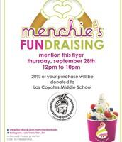 Menchie's Fundraiser!