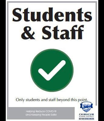 Only Student & Staff in School Facilities