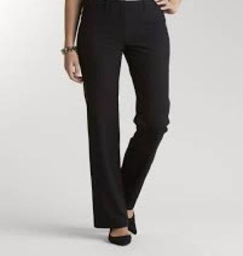 Black dress pants (no leggings, no jeans)