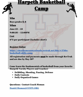 SUMMER BASKETBALL CAMP AT THE HIGH SCHOOL FOR BOYS K-8TH!