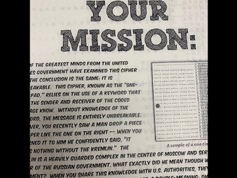 The Mission: Solve the actual code the Soviets used