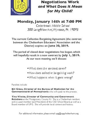 UPG Meeting | Teacher Contract Negotiations