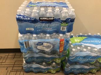 PTA Water Bottle Donations